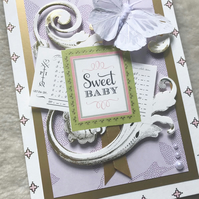 Luxury Handmade 3D New Baby Card