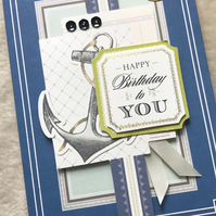 Luxury Handmade 3D Sailing Birthday Card