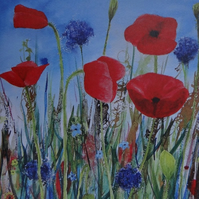 Poppies Art Card