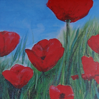Poppies Art Greetings Card