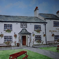Ormskirk Pub Art Greetings Card