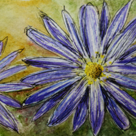 Flower ORIGINAL miniature Painting ACEO