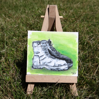 Miniature Walking Boots sketch Original