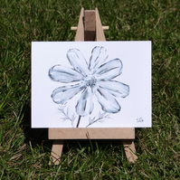 Miniature Cosmos flower sketch ACEO Original