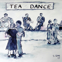 Tea Dance Sketch ORIGINAL with FREE UK DELIVERY