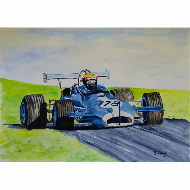 Formula 2 Racing Car Painting Original