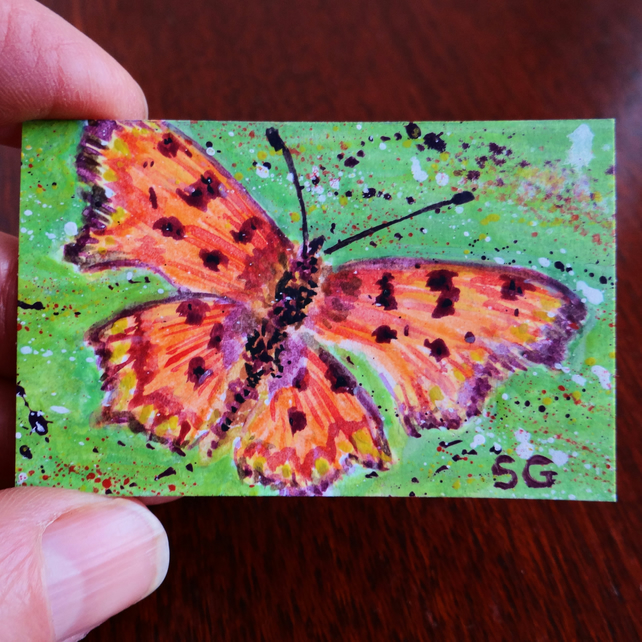 Butterfly Dolls House Miniature Painting Original
