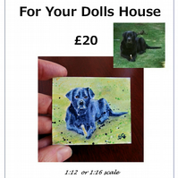 Dolls House Pet Portraits 1:12 1:16 scale