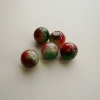 5  Dyed Rosy Apple Jade Beads  15mm