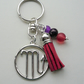 Scorpio The Scorpion Star Sign Zodiac Tassel Keyring or Bag Charm  KCJ2412