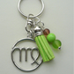 Virgo The Maiden Star Sign Zodiac Tassel Keyring or Bag Charm  KCJ2413
