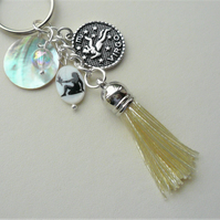 Virgo The Maiden Star Sign Zodiac Tassel Keyring or Bag Charm  KCJ2629