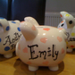 Piggy Bank Money Box, Hand painted & personalised
