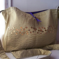 Beach bag with sequins and beads - Santiago