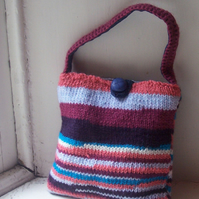 Hand knitted bag - SHORELINE