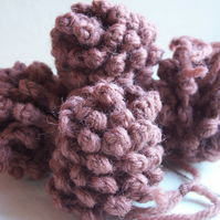 Crochet pinecone hanging ornament - Bark