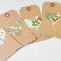 Vintage and Lace gift tags - set of 5