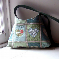 Patchwork shoulder bag - ROISIN
