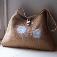 Embroidered cashmere shoulder bag - DANDILION