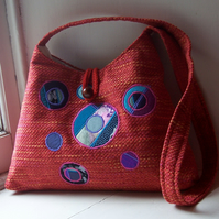 Isla - shoulder bag in orange, pink, turquoise and purple