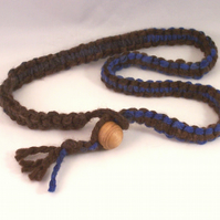 Macrame necklace with wood bead - Oak