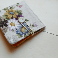 Wemyss - recycled fabric wallet in a vintage floral