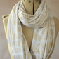 Gold Leaves Infinity scarf, Snood, Cream Circle scarf