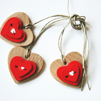 Heart Tag Wedding Home Decoration x 3