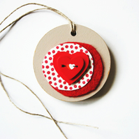 Heart Tag Decoration Gift Tag House Christmas Love