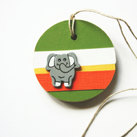 Elephant Gift Tag Wooden Tag Children Room Decoration