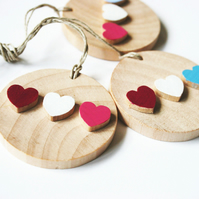 Tags with little colourful hearts Wedding Home Decoration