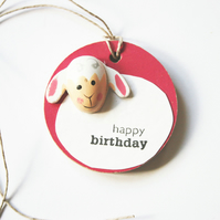 Sheep Birthday Gift Tag Kids Birthday