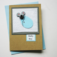 New Baby Boy Mouse Card