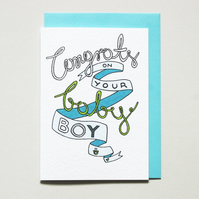 Congrats on your baby boy