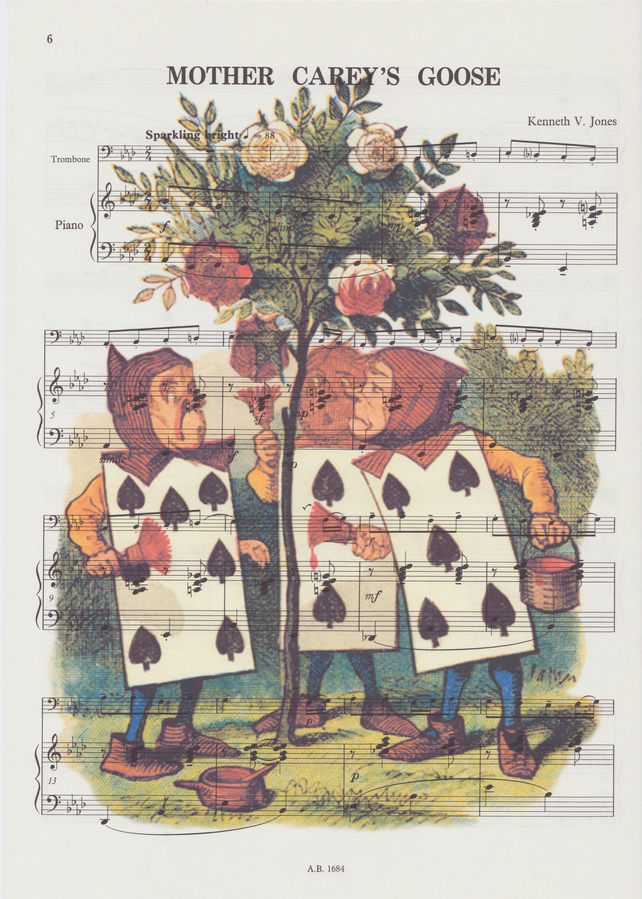 alice in wonderland painting the roses red sheet music