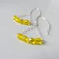 Sale! Sterling silver citrine swing earrings - by The Autumn Orchard