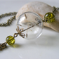 Dandelion seeds tassel necklace - real flower jewellery by The Autumn Orchard