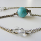Turquoise gemstone tassel necklace