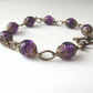 Vintage inspired violet glass bracelet