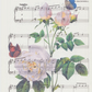 Birthday gift - To a Wild Rose - unique vintage sheet music print