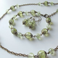 Pale green glass vintage inspired jewellery gift set by The Autumn Orchard