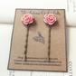 Vintage rose flower hair clips