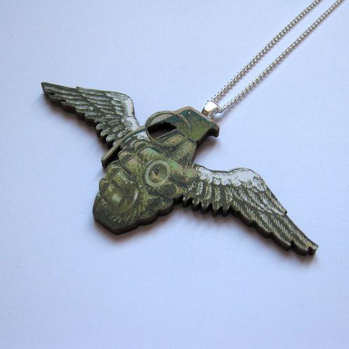 Flying Grenade Necklace