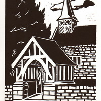 Church original linocut