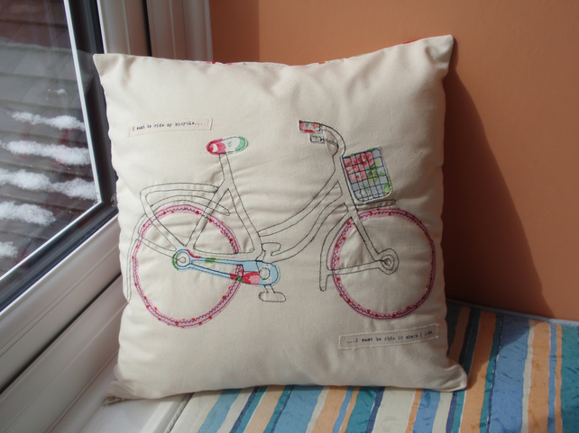 Cath Kidston Applique Bicycle Cushion Cover Han Folksy