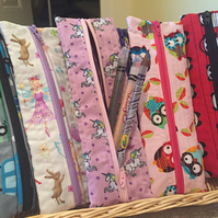 Staitionary, School, Pencil Pouch, Fairy, Cars, Zipper Bag, Boys, Girls, Unicorn