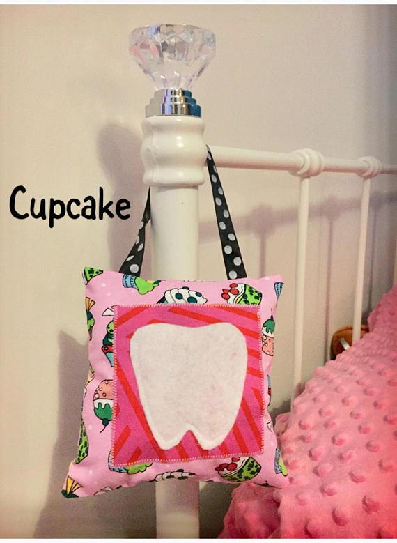 Tooth Fairy, Pillow, Hanging, Cupcake, Fairy,Cushion, Pocket, Girls Decor