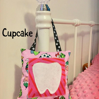 Tooth Fairy Pillow Hanging Cupcake Fairy Cushion with Pocket