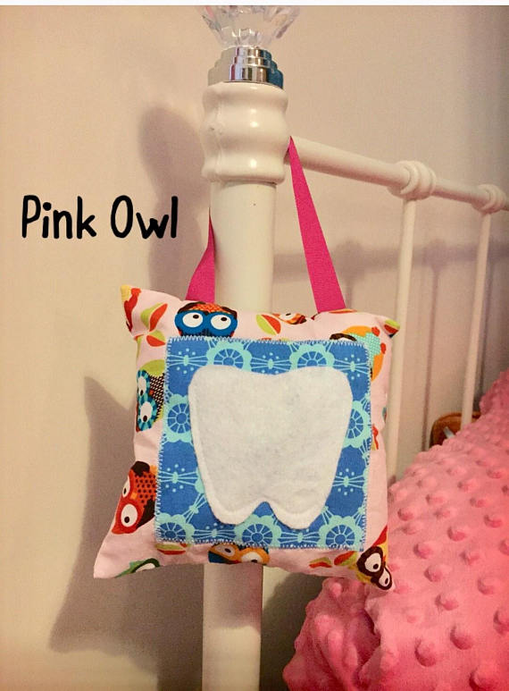 Tooth Fairy, Pillow, Hanging, Owl, Monkey, Cushion, Pocket, Kids Decor