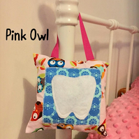 Tooth Fairy Pillow Hanging Owl Monkey Cushion with Pocket